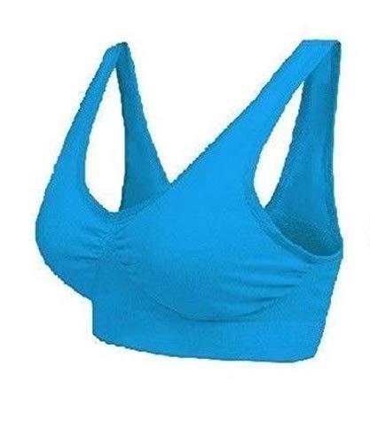 Boolavard® TM Reggiseno delle Donne Senza Giunte del Reggiseno Libero Crop Top Vest New Reggiseni Sportivi Bandeau Comfort Comfy (Turchese, XXXL (42-44))