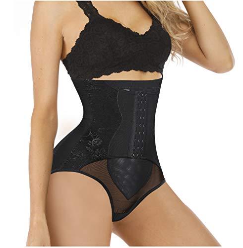 Chumian Donna Intimo Modellante Guaina Contenitiva a Vita Alta Shapewear Mutande Dimagrante Elastica Pancera Snellente Body Shaper (Nero, X-Large)