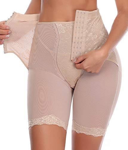 COMFREE Intimo Modellante Regolabile Mutande Contenitive Vita Alta Pantaloncino Snellente Guaina Contenitiva Senza Cuciture Underpant Shapewear delle Cosce da Donna Beige 2XL