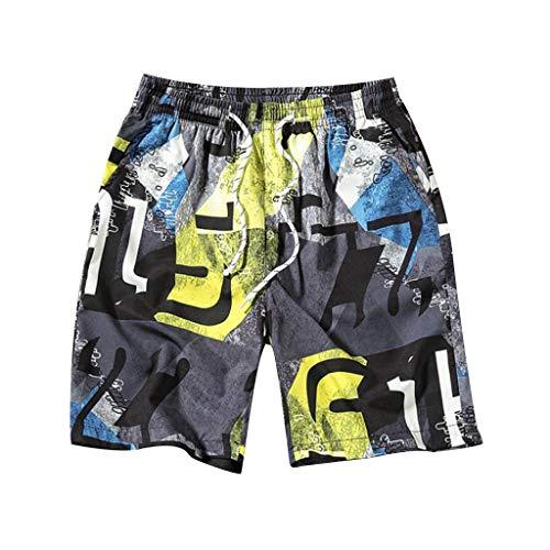 Costumi Uomo,Moda Uomo Pantaloni Traspiranti Pantaloni da Spiaggia Stampa Running Biancheria Intima da Bagno,Pantaloncini e Calzoncini