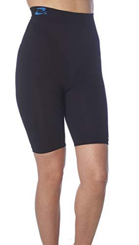CzSalus Pantaloncino corto o shorts snellente, anti-cellulite con Aloe Vera+Tè verde Nero Tg. M