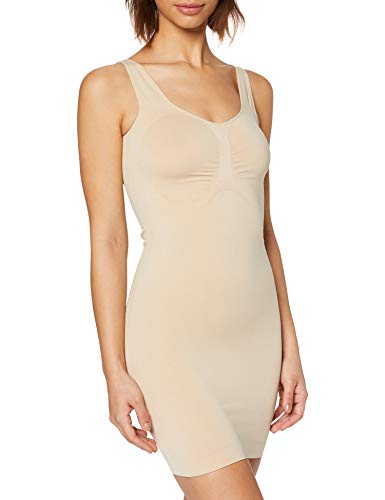 FM London Firm Control Dress, Sottoveste Modellante Donna, Beige (Nude 15), 38-40