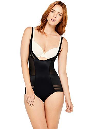 Iris & Lilly Body Modellante Elasticizzato Selvedge Donna, Nero (Black), Small