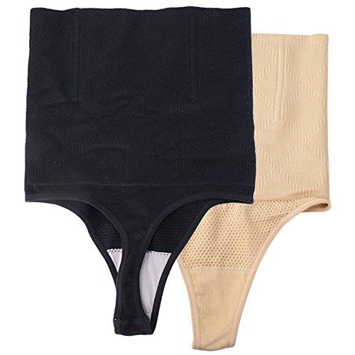 JNCH 2 pz Intimo Modellante da Donna Guaina Contenitiva a Vita Alta Mutande Contenitive Pantaloncini Thong Shapewear Dimagrante