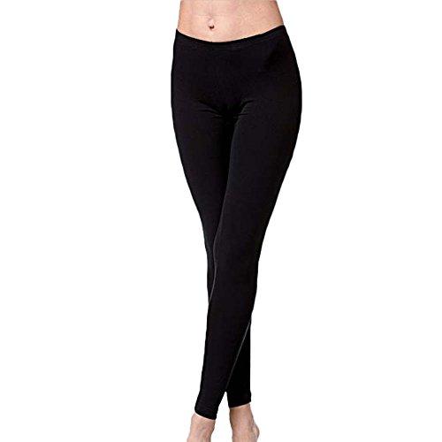 leggings donna cotone elasticizzato nero JADEA art.4265 (L/XL)