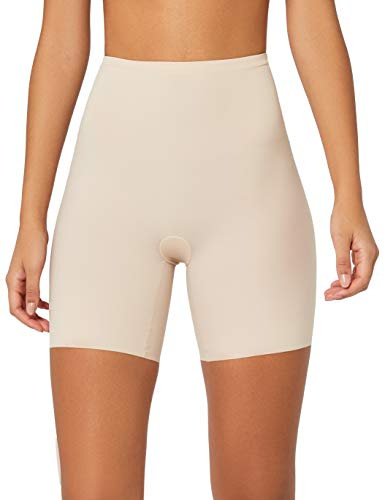 Maidenform Sleek Smoothers-Thigh Slimmer Mutandine, Beige (Paris Nude Pad), 36 (Taglia produttore: S) Donna