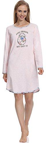 Merry Style Camicia da Notte Donna 2002 (Rosa-2A, S)