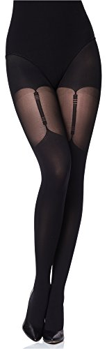 Merry Style Collant Donna MS 260 40 DEN (Nero, L)