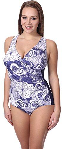 Merry Style Costume Intero Curvy Taglie Forti Donna H-12(Modello-H04, EU(44)=IT(50))