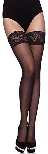 Merry Style Donna Calze Autoreggenti MS 209 (Nero, XS-S)