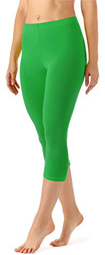 Merry Style Leggings 3/4 Pantaloni Capri Donna MS10-144 (Marrone, S)