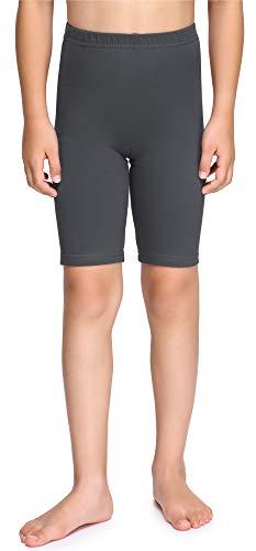 Merry Style Leggings Corti Bambina e Ragazza MS10-227(Nero, 134 cm)