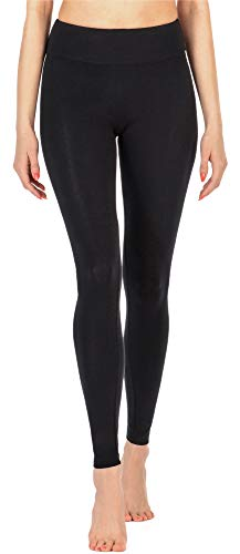 Merry Style Leggings Lunghi Pantaloni Donna MS10-221 (Nero, XXL)