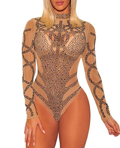 NBBNYJ Body Sexy con manica lunga