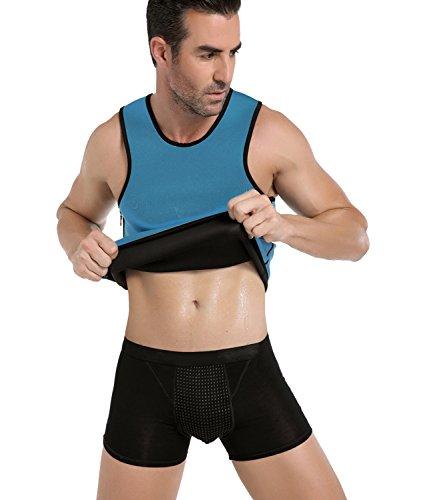 Ningmi gilet in neoprene dimagrante sauna sudore tuta da ginnastica da uomo per la perdita di peso shapewear