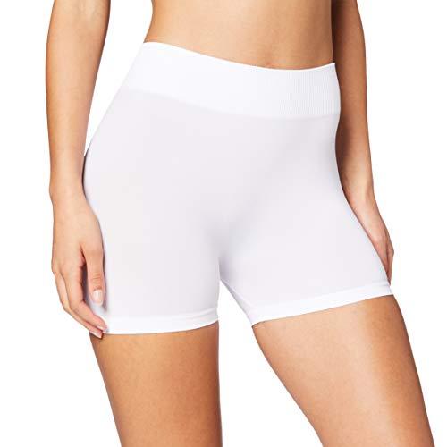 PIECES Pclondon Mini Shorts Noos, Slip Donna, Bianco (Bright White Bright White), 36 (Taglia Produttore: S/M)