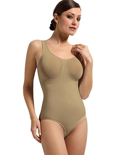 SENSI' Body Modellante Donna Senza Cuciture Spalla Larga Comfort Made in Italy