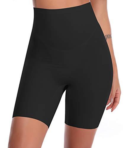 SLIMBELLE Donna Modellante Vita Alta Guaina Intimo Shapewear Mutande Contenitiva Slip Contenitive Pancia Pancera da Dimagrante Shaper Up Snellente-Black-M