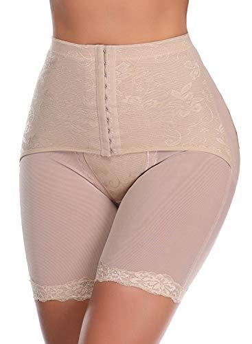 SLIMBELLE Donna Modellante Vita Alta Guaina Intimo Shapewear Mutande Contenitiva Slip Contenitive Pancia Pancera da Dimagrante Shaper Up Snellente per Push-Beige-2XL