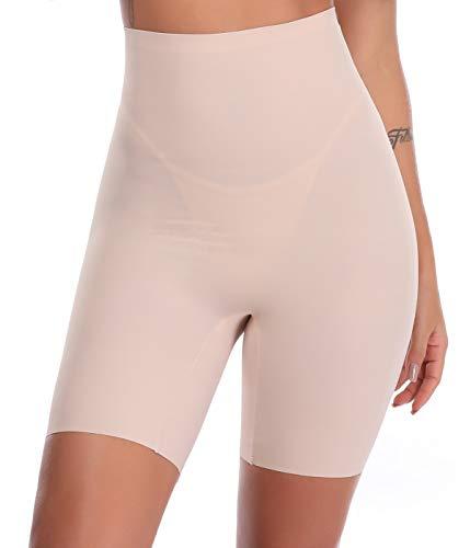 SLIMBELLE Donna Modellante Vita Alta Guaina Intimo Shapewear Mutande Contenitiva Slip Contenitive Pancia Pancera-Beige-L