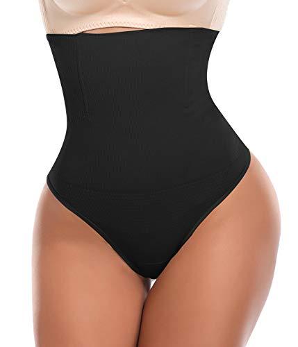 SLIMBELLE Donna Vita Alta Perizomi String Intimo Modellante Tanga Mutande Contenitive Guaina Shapewear Dimagrante Fascia Elastica Pancia Piatta Invisibile