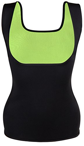 SLIMBELLE - Maglia Model_Number.valuelanti - Donna Green+ Black Sweat Sauna Vests Small