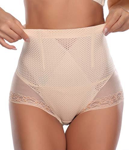 SLIMBELLE Vita Alta Mutande Contenitive Pancia Intimo Modellante Guaina Modellante Body Shaper Shapewear da Donna Vita Alta Body Shaper da Donna-Beige-L