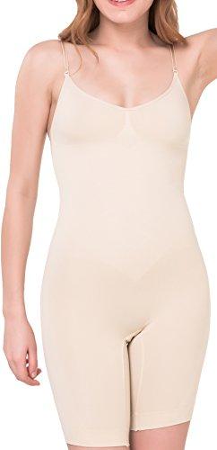 UnsichtBra Body Intero a Gamba Lunga per Donna (SW_2200) (XL (48-54), Beige)
