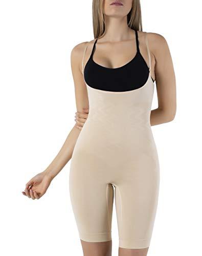 UnsichtBra Body Intero Modellante, Scollato, a Gamba Lunga per Donna (SW_2100) (XL (48-54), Beige)