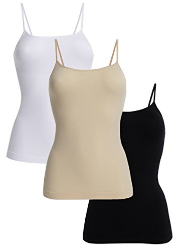 UnsichtBra Canotta Comfort Donna Set da 3 (Nero, Bianco, Beige, XL-2XL)