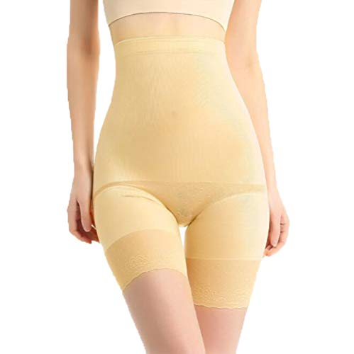 ZZVV Shapewear Donna Pantaloncini Senza Vita a Alta Aggiungi Fertilizzante per Aumentare Il Controllo di Pancia Mezza età Pantalone di Sicurezza a Tre Punti Corsetto Un Pezzo (XL-5XL),skincolor,3XL