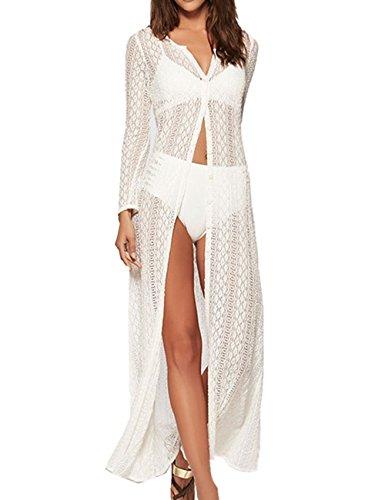 AiJump Donna Chiffon Pizzo Pareo Copricostume Copribikini Abito da Spiaggia Bikini Cover Up per Costume da Bagno