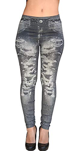 Inception Pro Infinite Leggings nero - Effetto Jeans strappato -