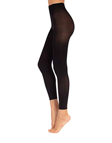Leggings Nero in Microfibra Jeggings, CALZITALY