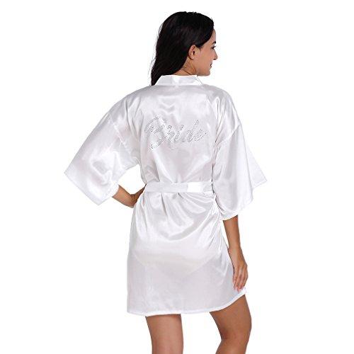 BOYANN Sposa Cristallo Vestaglie e Kimono Pigiami e Camicie da Notte