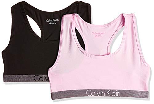 Calvin Klein 2 Pack Bralette Corsetto, Multicolore (1 Black / 1 Unique 037), 164 (Taglia Produttore: 14-16) Bambina