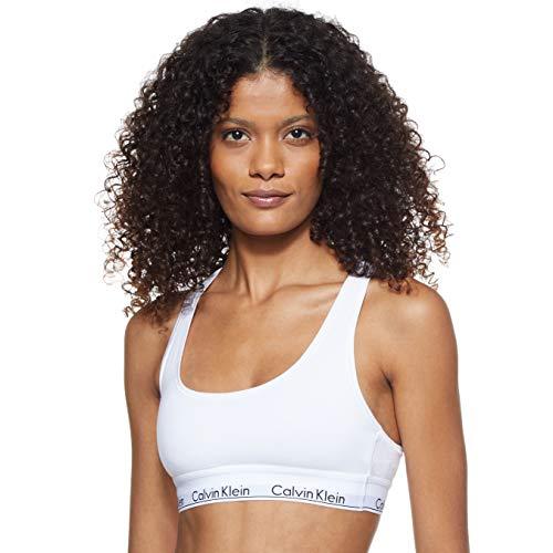 Calvin Klein Bralette, Corsetto Donna, Bianco (White 100), Small