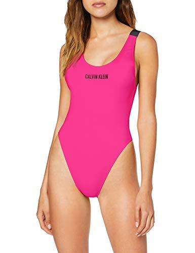 Calvin Klein Scoop One Piece-RP Reggiseno Bikini, Rosa (Pink GLO TZ7), (Taglia Produttore: X-Small) Donna
