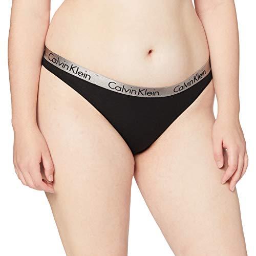Calvin Klein Thong 539E, Tanga Donna, Nero (Black 001), 36 (Taglia Produttore: Small)