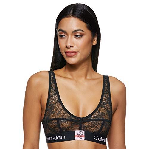 Calvin Klein Unlined Bralette Reggiseno Bikini, Nero (Black 001), 42 (Taglia Produttore: Small) (Pacco da 2) Donna