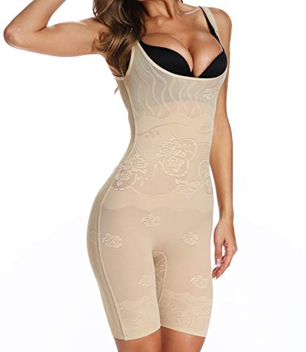 MISS MOLY Aperto Busto Intimo Modellante Body Contenitivo Snellente Body Shaper Donna Traspirante Shapewear Dimagrante Seamless Corsetto Cincher Guaina Contenitiva Shaping