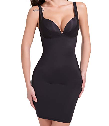 MISS MOLY Sottoveste Modellante Shape Sensation Bodydress Under Bust Control Dress Donna Intimo Shapewear Corpetto Corto a Campana