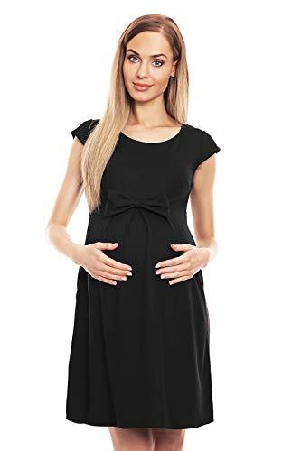 Selente Mummy Love Vestito Basic Premaman di qualità, Fiocco Nero, S/M