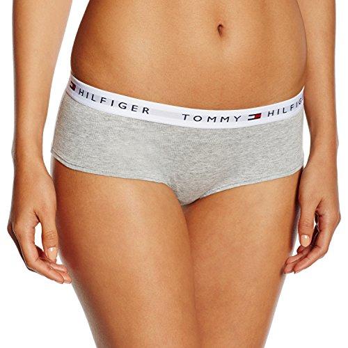 Tommy Hilfiger Shorty Bikini, Grigio (Grey Heather 004), 32 (Taglia Produttore: XS) Donna