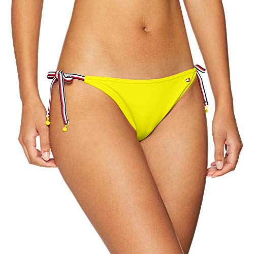 Tommy Hilfiger String Side Tie Bikini Slip, Giallo (Empire Yellow 700), 40 (Taglia Produttore: X-Small) Donna
