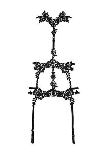 Axami - Cintura da donna con reggicalze Nero L