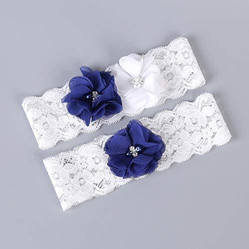 Charm4you Matrimonio Sposa Giarrettiera per,Gambe della Sposa Decorate con Pizzo Giarrettiera-White_30pcs,da Sposa in Pizzo Giarrettiera