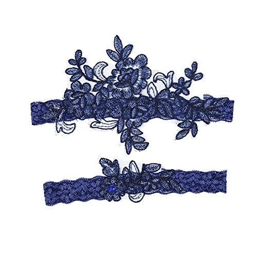 Giarrettiera Lace Giarrettiera Nuziale Giarrettiera Wedding Giarrettiere Blu Garter - bomboniera Sposa da Essere Hen Party Night Wedding Accessories (Color : Blue, Size : Free Size)