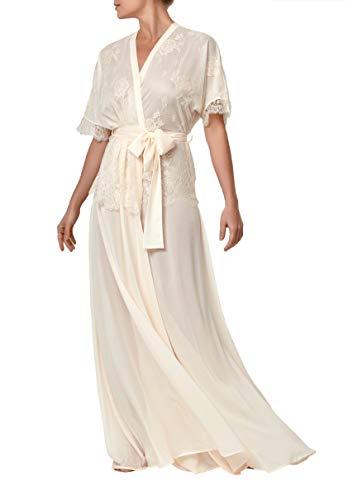 Millesime Robe Kimono Donna Chimono Donna Dressing Gown Vestaglia Sexy Luxury Camicia da Notte Donna negligé Nightdress CamiciaNote EveningGown Sheer Pajama Babydoll Regalo Compleanno