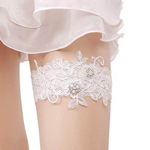 Ribbon Bow design elastico giarrettiera Giarrettiere sposa for la sposa del merletto della perla nuziale giarrettiera for pizzo sexy donne in piedi raso Anello Prom giarrettiere Set Accessori da sposa